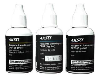 Reagente Líquido Para Cloro Livre E Total 100 Testes Akso