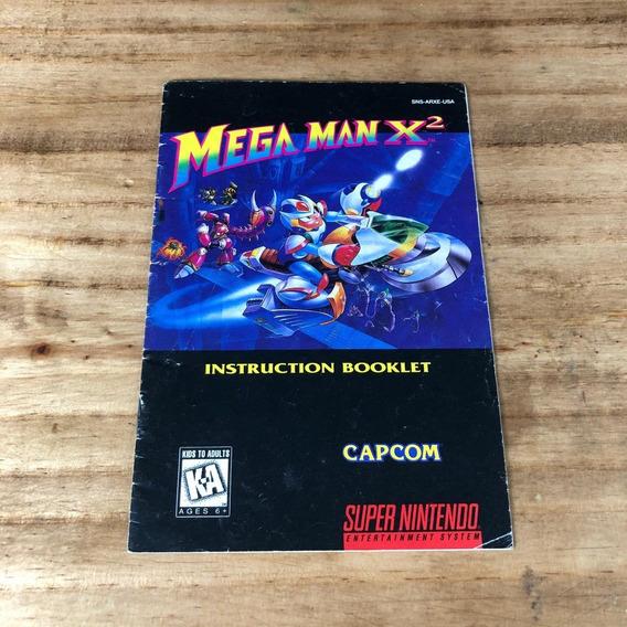 Manual Original Americano Mega Man X2 Snes - Super Nintendo