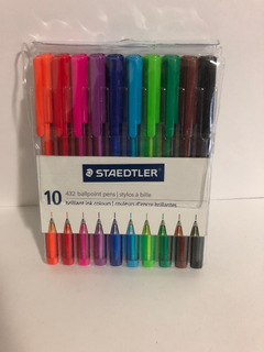 Boligrafos Staedtler Triangular Ball432 10colores