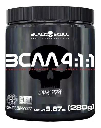 Bcaa Em Pó 4:1:1 280g - Black Skull - Caveira Preta