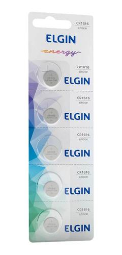 Imagem 1 de 4 de 05 Baterias Pilhas 3v Elgin Cr1616 1 Cartela
