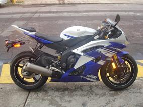 Yamaha R6r R6 2014 Azul Blanco R1 Cbr Rr Gsxr Zx Motomaniaco