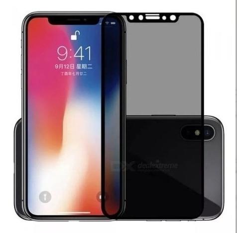 Vidrio Templado Anti Espia Completo 5d iPhone X/xs