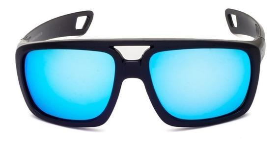 Óculos De Sol Spy 69 Pepper - Preto Brilho Lente Azul