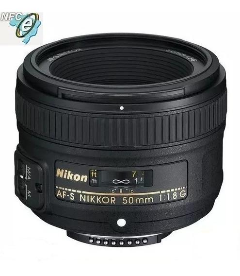 Lente Nikon Af-s 50mm F/1.8g Fx - Nova Garantia 12 Meses
