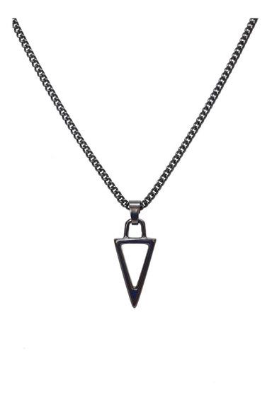Corrente Longa Cordão Masculino Pingente Triangulo