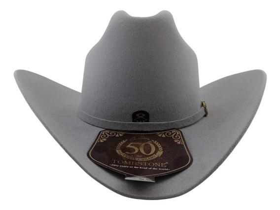 Sombrero Texana Alto 20 X Tombstone Gris Modelo Patrón Lana