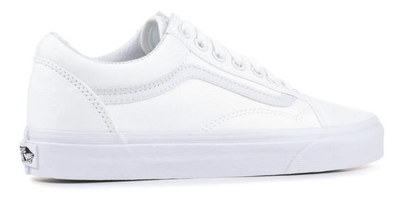 Tenis Vans Old Skool Blanco-negro Clasico De Hombre Moda