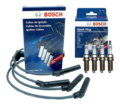Cables Y Bujias Bosch Fiesta Ecosport Focus Ka 1.6 Rocam