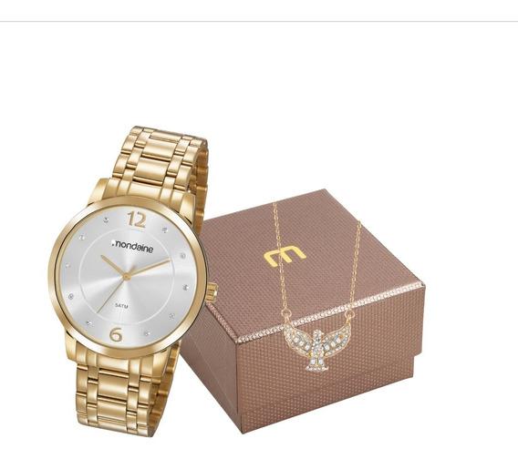 Relógio Mondaine Feminino 83467lpmvde2k1 Dourado + Nfe
