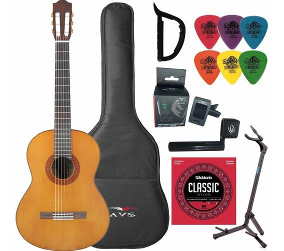 Violão Yamaha Acústico C70ll Clássico Nylon Natural + Kit