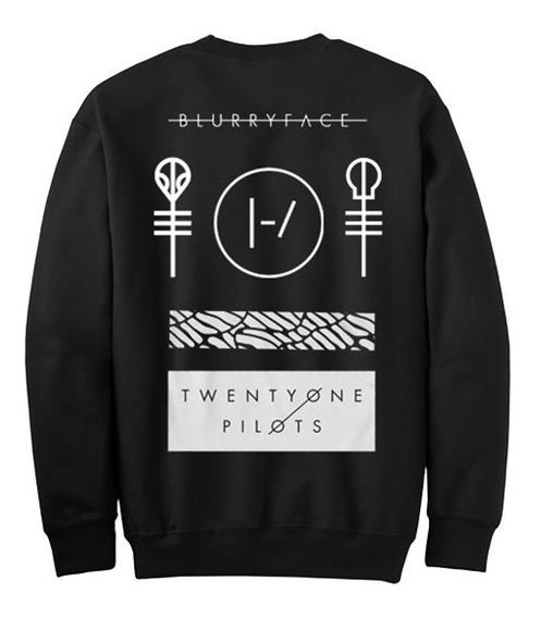 Sudadera Sweater Twenty One Pilots Trench Black & White Moda