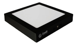 Pack X 2 Plafon Led Color Negro Panel Led Techo 18w 220v Luz Calida/fria Marca: Candil Medidas: 22cm X 22cm