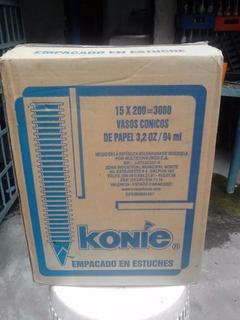 Vasos Conicos Konnie Caja De 15 Paquetes De 200= 3000