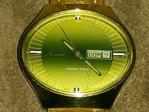 Mido Ocean Star Maracanã Relógio Vintage Anos 70