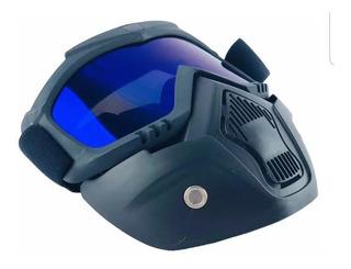 Careta Mascara Desmontable Para Casco Motociclista Goggles