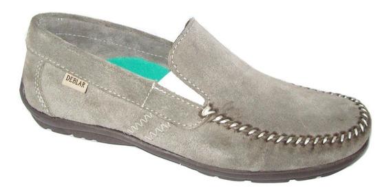 Zapatos Mocasines Naútico Cuero Gamuza Hombre Deblar