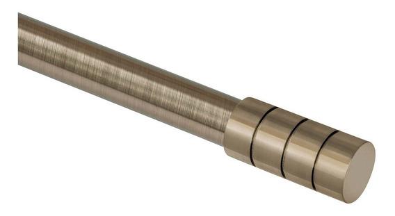Kit Varão Cortina 28mm Extensivo 1,60 A 3,00m Ponteira Cilindrica