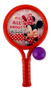 Raquetas Rojas Con Pelotas Minnie Mouse Original