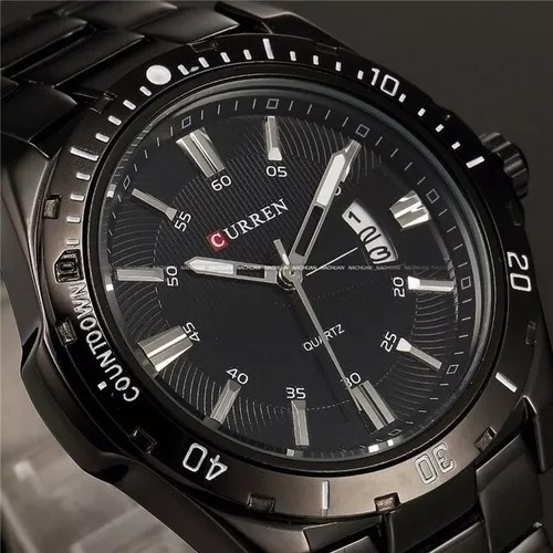 Relógio Masculino Curren Luxo Marca All Black
