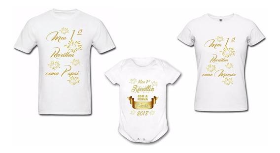 5 Camisetas Personalizada - Meu Primeiro Réveillon Ano Novo