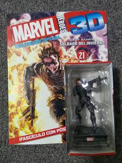 Marvel 3d Figuras De Colección - Nº 21 Soldado Del Invierno