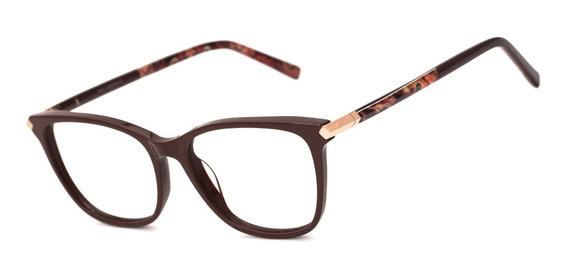 Armação Oculos Feminino Ogrife Og 2033-c Com Lente Sem Grau