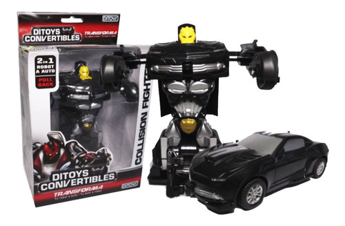 Ditoys Convertibles Collision Fighters Negro  Full