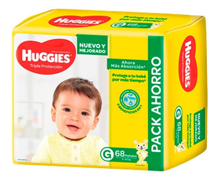 Pañales Huggies Classic Triple Proteccion Pack Ahorro