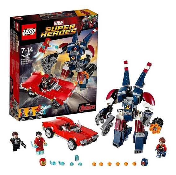 Lego® Super Heroes Iron Man:golpes De Detriot Steel (76077)