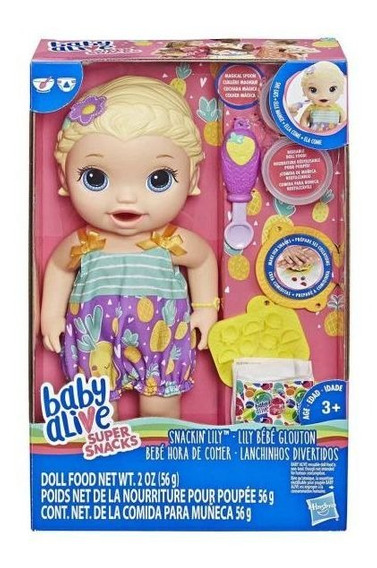 Boneca Baby Alive Lanchinhos Divertidos Loira Hasbro - E584