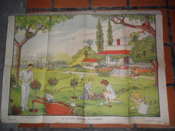 Antigua Lamina Cartel Peronismo Kapelusz Berdiales Forgione