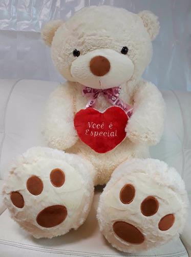 Urso 1,20 Mts Ursinho Bicho De Pelúcia + Coração * Inmetro