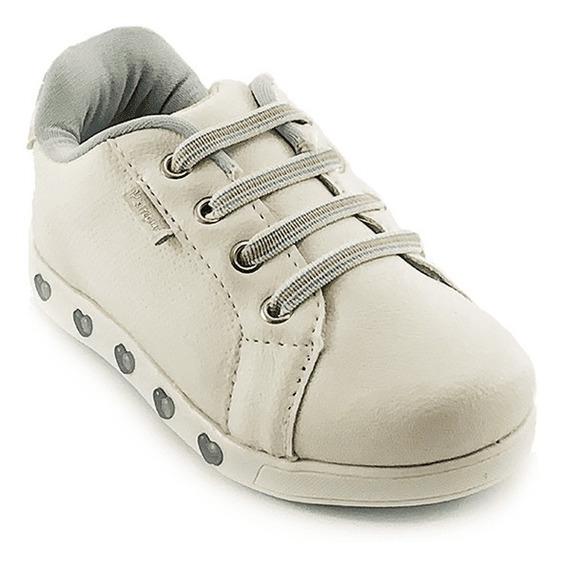 Tênis Infantil Pampili Sneaker Luz Cor Branco