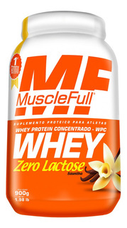Whey Zero Lactose Wpc (900g) - Muscle Full - Baunilha