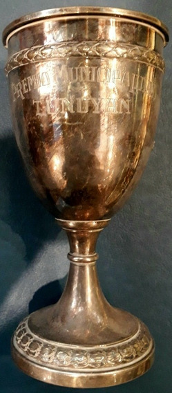 Antiguo Trofeo Copa Deporte Campeón Plateada Tunuyan Mendoza