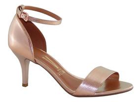 Sandalia Vizzano Salto Medio Metalizado Rosa 6276216 Moda