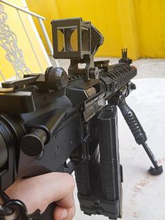 Airsoft Rifle Bolt Recoil M4 + Mira Angular + 8 Mags + Combo