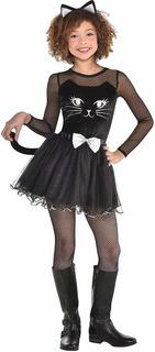Disfraz De Halloween Con Vestido De Gato Negro Para Nia...