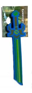 Espada Minecraft Mistica Armas De Goma Fuego - Diamante