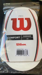 Overgrip Wilson Pro Comfort Pack C/ 30 Branco Roger Federer