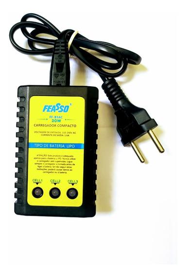 Carregador De Bateria Lipo Compacto Feasso Ff-b3ac Airsoft