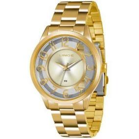 Relógio Lince Dourado Feminino Lrg4347l-c2kx Transparente
