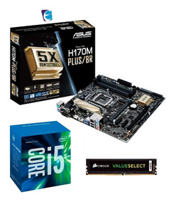 Kit Intel Core I5 7400 Asus H170m Plus Corsair 8gb Vs I