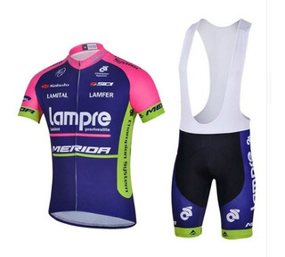 Conjunto Ciclismo Lampre - Camisa + Bretelle Gel