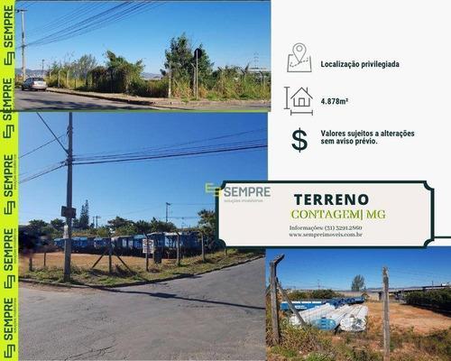 Imagem 1 de 13 de Terreno À Venda, 4.878 M² - Água Branca - Contagem/mg - Te0026