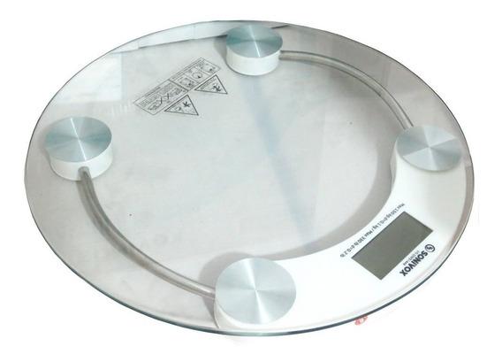 Báscula De Baño Digital Circular Vidrio Templado 180 Kg