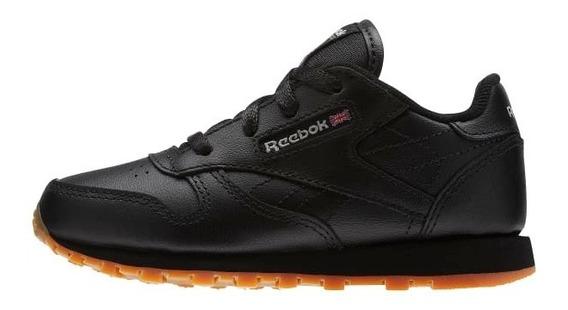 Tenis Reebok Classic Leather Negro Para Bebé
