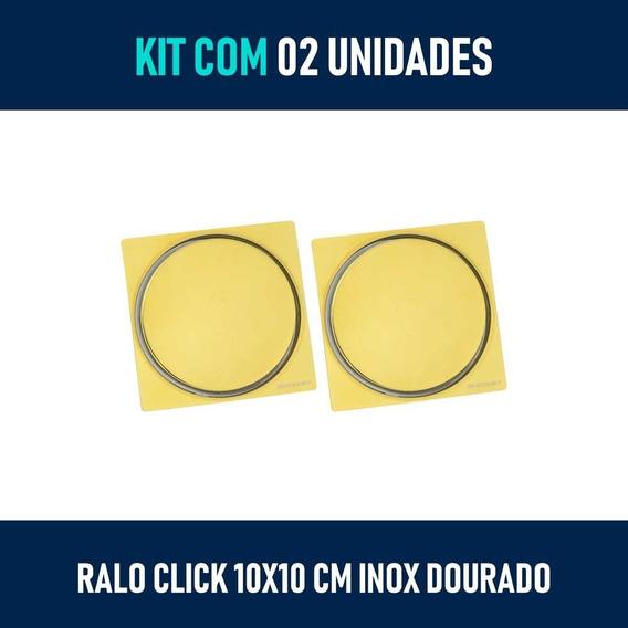 Kit 02 Ralo Dourado Clik Inteligente (um) 10x10 E (um) 15x15