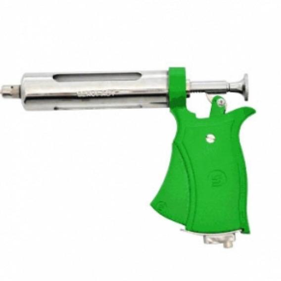 Pistola Veterinaria Seringa Dosadora Verde Servi 50ml Aut S/ Acessorios